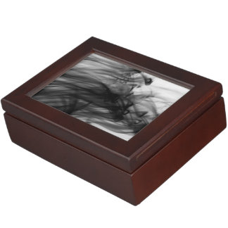 Black Fire I Keepsake Box by Artist C.L. Brown
