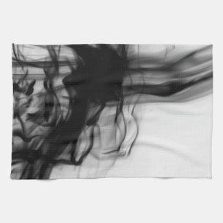 Black Fire II Kitchen Towel by Artist C.L. Brown