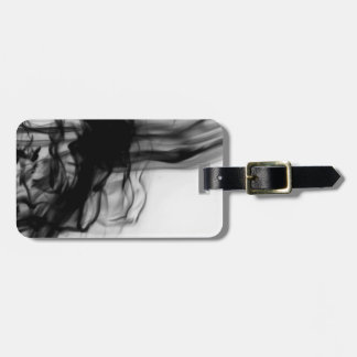 Black Fire II Luggage Tag with Leather Strap