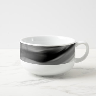 Black Fire II Soup Mug by Artist C.L. Brown