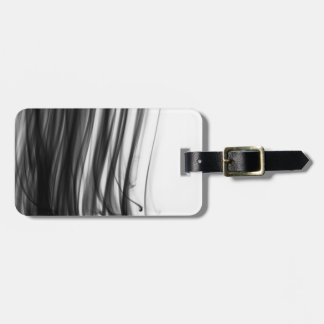 Black Fire III Luggage Tag with Leather Strap