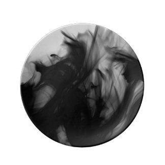 Black Fire IV Decorative Porcelain Plate
