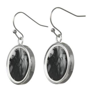 Black Fire IV Drop Earrings by Artist C.L. Brown
