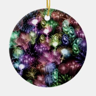 Black Fireworks Christmas Ornament