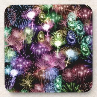 Black Fireworks Coaster