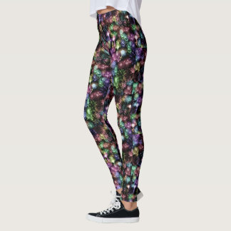 Black Fireworks Leggings