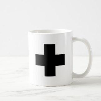Black First aid cross Mugs