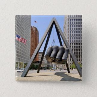 Black Fist Detroit 15 Cm Square Badge