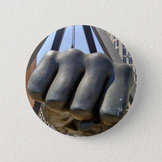 Black Fist Detroit 6 Cm Round Badge