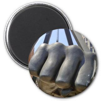 Black Fist Detroit Magnet
