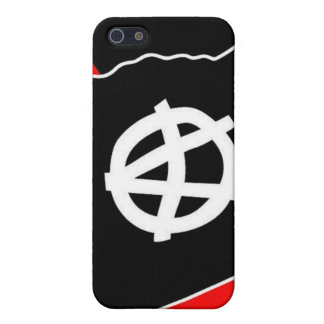 black flag on red and black i phone case iPhone 5/5S cases