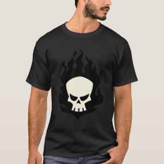 Black Flame Skull Shirt