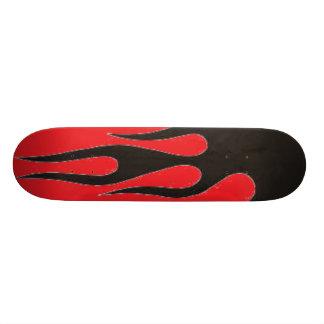 Black Flames Custom Skate Board