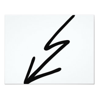 black flash 11 cm x 14 cm invitation card