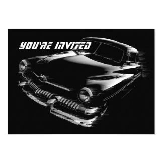 Black Flash Car Birthday 13 Cm X 18 Cm Invitation Card