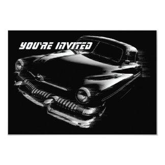 Black Flash Car Birthday V2 9 Cm X 13 Cm Invitation Card