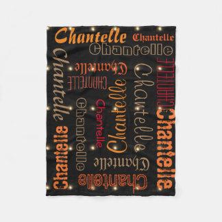 Black Fleece Blanket Name Collage Night Star