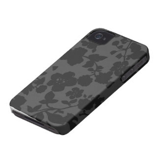 Black Floral iPhone 4S Case iPhone 4 Cases
