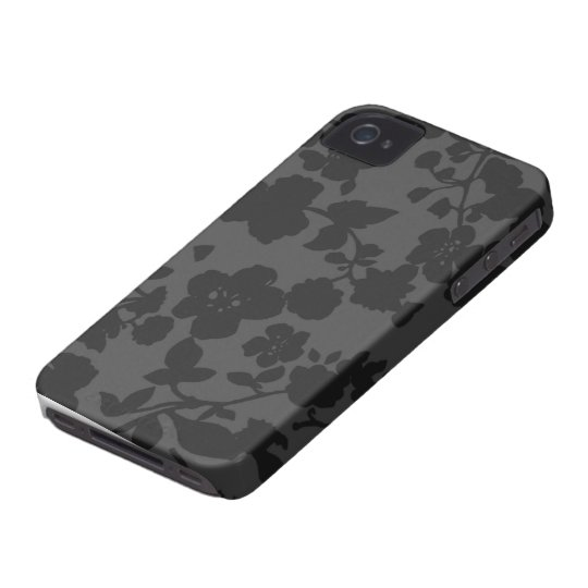 Black Floral iPhone 4S Case