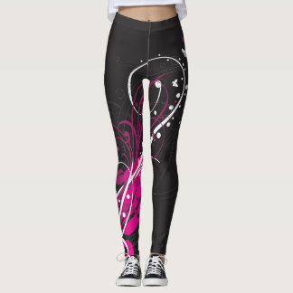 Black Floral Leggins Leggings