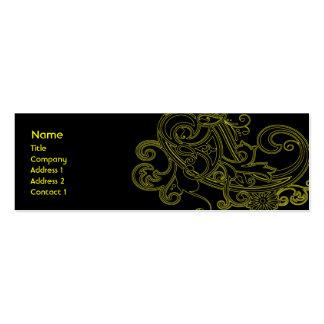 Black Floral - Skinny Pack Of Skinny Business Cards