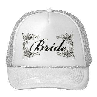 Black Floral Wedding Invitation Set Hats