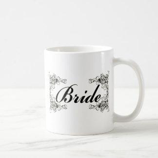 Black Floral Wedding Invitation Set Classic White Coffee Mug