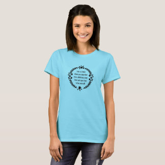Black Floral Wreath Life is LIVED T-Shirt