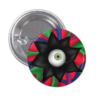 Black Flower 3 Cm Round Badge