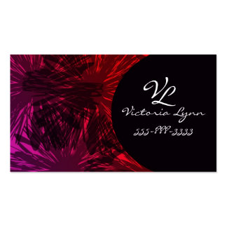 black flower Double-Sided standard business cards (Pack of 100)