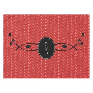 Black Flower Monogram | Tablecloth