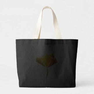 Black Flower Power Tote Bag