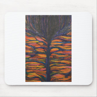 Black Flower(Symbolic Expressionism) Mouse Pad