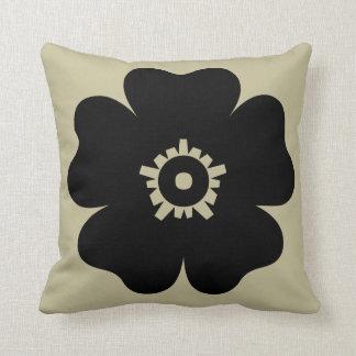 Black Flower Throw Pillow Throw Cushion