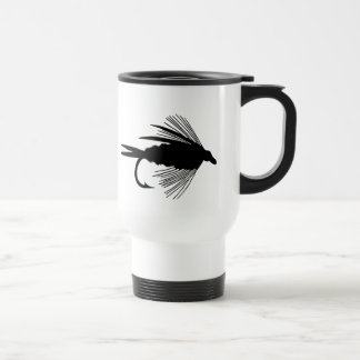 Black fly fishing lure mug