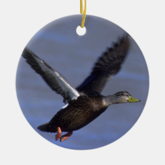 Black flying duck christmas ornament