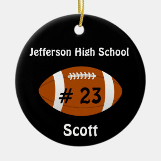 Black Football number Ornament
