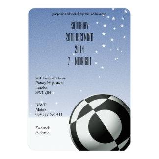 Black Football Party Invitations for Men