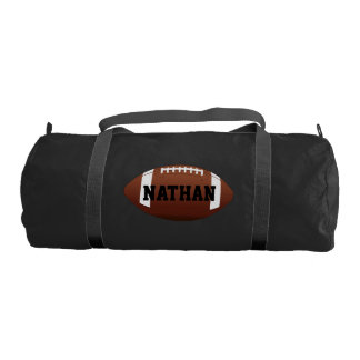 Black Football Personalized Duffle Bag