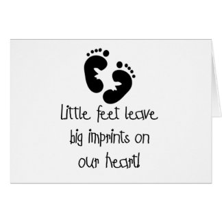 Black Footprints Little Feet Big Imprints Greeting Card