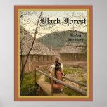 Black Forest  ~ Germany ~  Vintage Travel Poster