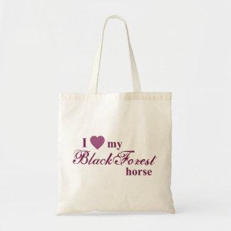 Black Forest horse Budget Tote Bag