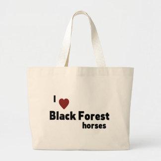 Black Forest horses Jumbo Tote Bag