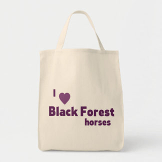 Black Forest horses Grocery Tote Bag