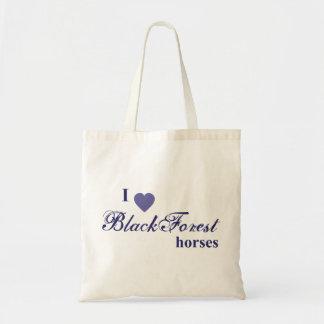 Black Forest horses Budget Tote Bag