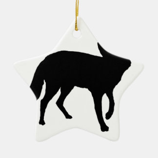Black Fox Ceramic Star Decoration