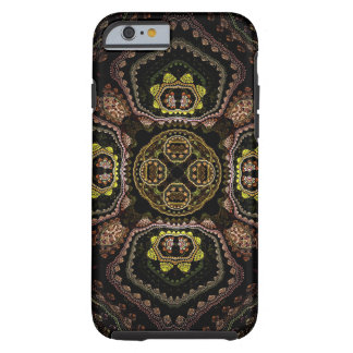 Black Fractal Abstract Tough iPhone 6 Case