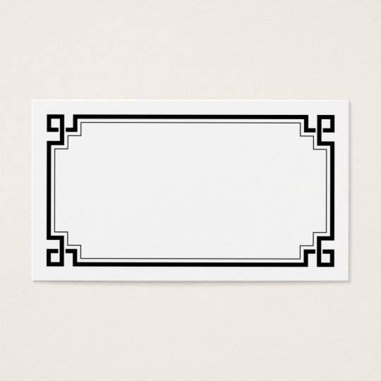Black Frame Art Deco White Wedding Place Names