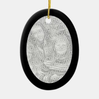Black Frame Oval Ornament