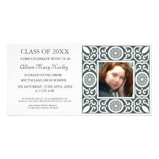 Black frame - Photo Graduation Party invites Custom Photo Card
